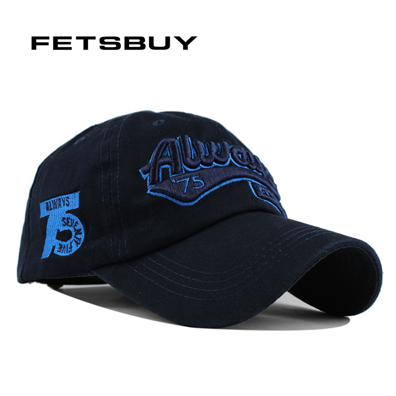 FETSBUY Fitted Cotton Baseball Cap Snapback Hat For Men Women Men'S Sun Hat Bone Gorras Embroidery Caps Spring Cap Wholesale high quality plain dyed sand washed 100% soft cotton cap sport hat gorras snapback cap outdoor sun hat for women caps