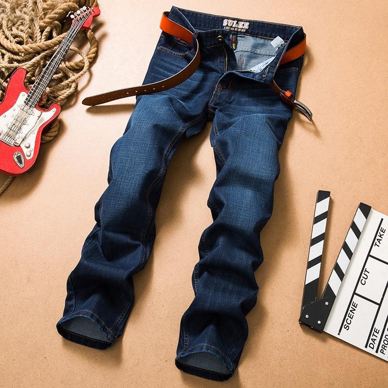 2017 New Design Sulee Brand Classic Straight Jeans Men Dark Blue Denim Pants Regular Fit Big Size 28 To 40  1 pcs jeans for men cheap china straight regular fit denim jeans pants classic blue color brand clothes size 28 to 38 bn446