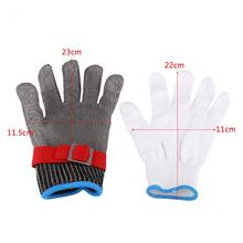 Stainless steel wire metal grid butcher anti-knife protection tool 1 piece safety gloves SS304 mesh anti-cutting stab