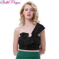 Belle Poque 2017 Summer Tank Tops Camis Hot Sexy Club Fitness Black One Shoulder Vintage Camisole