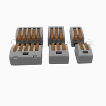 20 PCS Spring Lever Push Fit Reuseable Cable Cage Clamp 2/ 3 /5 wire easy connect cable terminal block new original 1794 tb3 plc cage clamp terminal base