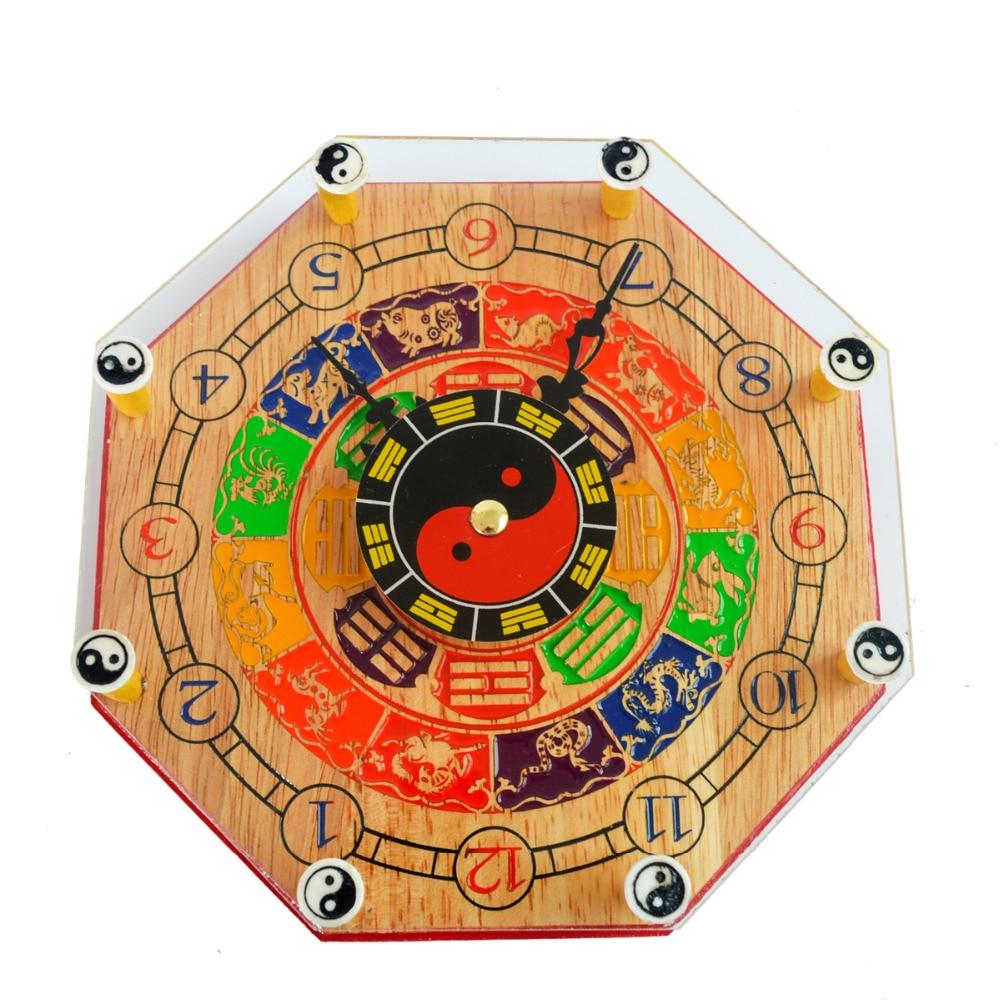 Feng shui ying yan bagua clock with chinese zodiac x9004 for Chinese feng shui house