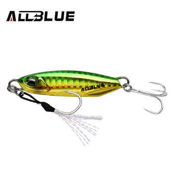 ALLBLUE New DRAGER Metal Cast Jig Spoon 15G 30G Shore Casting Jigging Lead Fish Sea Bass Fishing Lure  Artificial Bait Tackle 9