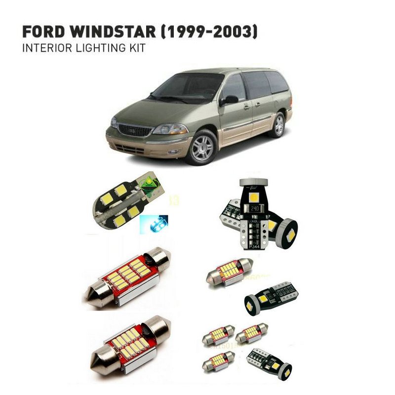 Led Interior Lights For Ford Windstar 1999-2003  14pc Led Lights For Cars Lighting Kit Automotive Bulbs Canbus