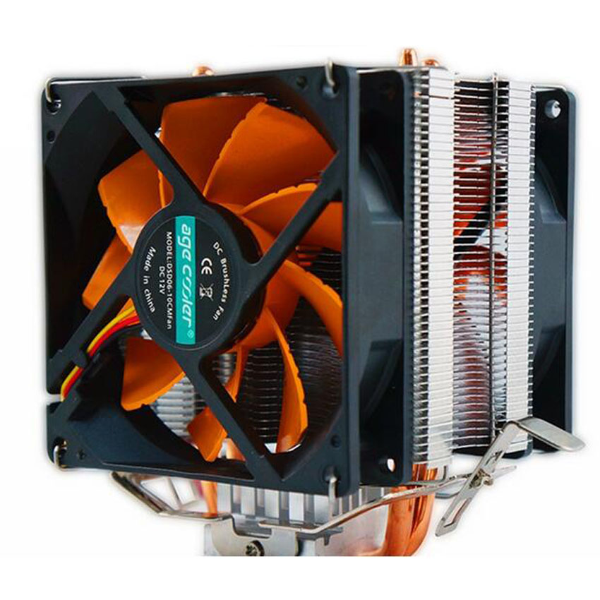 New 8cm fan 2 heatpipes,tower side-blown,Intel LGA775/1155/1156,<font><b>AMD</b></font> AM2/AM2+/<font><b>AM3</b></font> radiator,<font><b>CPU</b></font> mute FAN cooler image