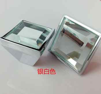 5colors square Lens haplopore Diamond crystal Alloy Door Drawer Cabinet Wardrobe Pull Handle Knobs Drop Shipping Wholesale - DISCOUNT ITEM  15% OFF All Category