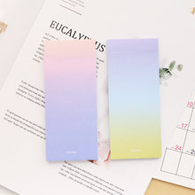 Brand New Rainbow Cute Memo Pads Decoration Stickers Gradient Color Self-Adhesive Stationery Sticky Notes(China)