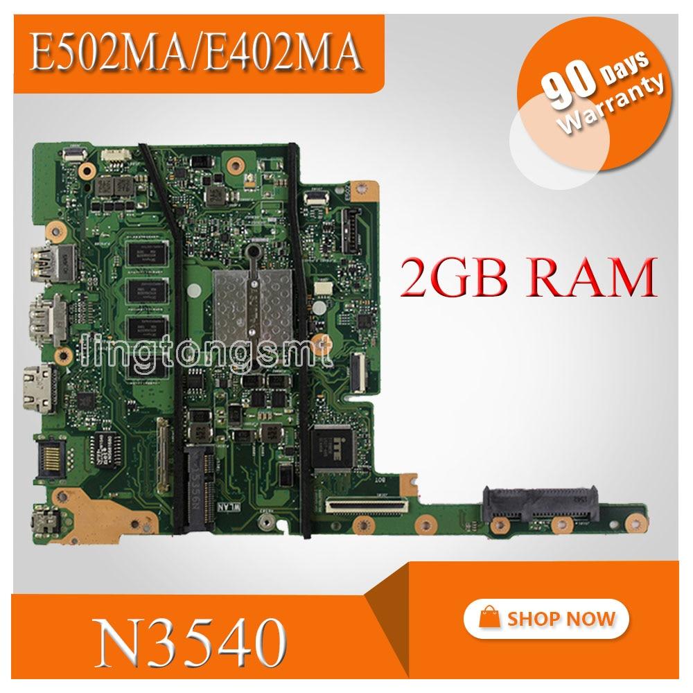 N3540 CPU 2GB RAM E402MA Motherboard For ASUS E502MA E402MA 14