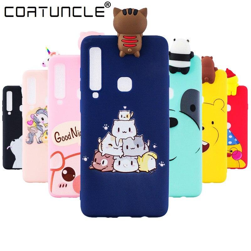 A9 2018 Case on sFor Coque Samsung Galaxy A9 2018 Case For Samsung A9 2018 Cover 3D Soft Silicone TPU Cute Cartoon Phone Cases