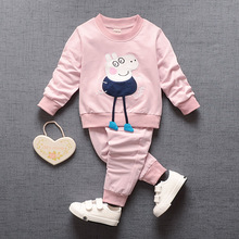 Spring Autumn Children Clothing Sets Baby girl Cotton Sport clothes boy Long sleeves Tops + Pants Suits Kids cartoon tracksuits