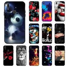 Ojeleye Fashion Black Silicon Case For Vivo V11 Cases Anti-knock Phone Cover Pro X21s Covers