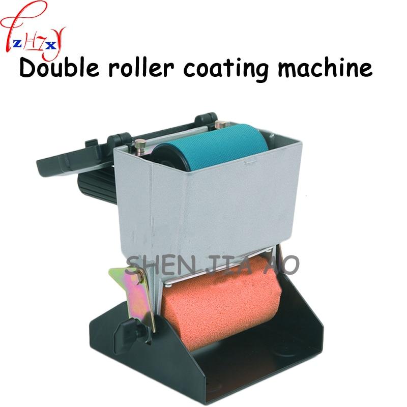 1 pc EM25D double rouleau machine de revêtement manuel machines à bois petit équipement