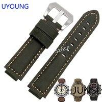 Uyoung armband für timex t49859 | t2n720 | t2p141 | t2n722 | 723 | 738 | 739 strap qualität echtes leder uhrenarmband