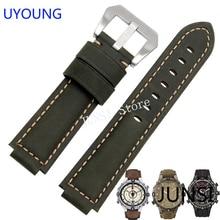 UYOUNG Correa de reloj para Timex T49859, T2N720, T2p141, T2n722, 723, 738, correa de cuero genuino de calidad 739