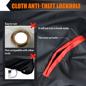 """Image 4 - MICTUNING Universal Motorcycle Cover 210D Oxford Tear Proof Anti thief Lock Hole for 104"""" XXL Motorcycles for Yamaha for Harley"""