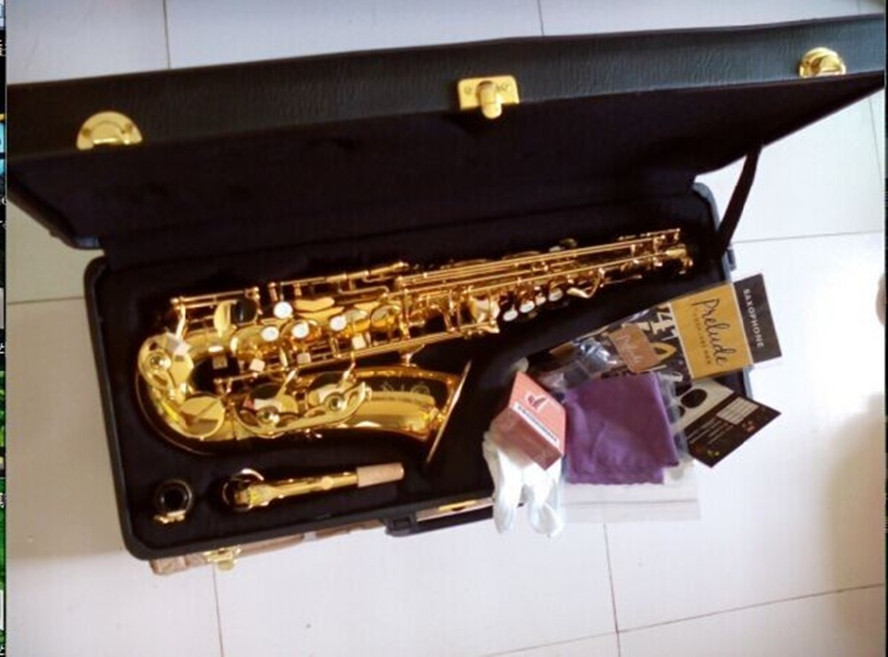 DHL / Fedex Shipping Brand France Henri Selmer 54 Electrophoresis Gold Saxophone alto sax  musical instruments professional sax alto saxophone selmer 54 brass silver gold key e flat musical instruments saxophone with cleaning brush cloth gloves cork strap