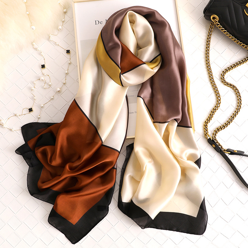 All-matched Silk Scarves Women 2020 New Simple Geometric Shawls Wraps Soft Long Pashmina High Quality Winter Scarf Femme Hijab