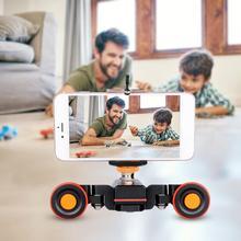YELANGU L4X Mini motorisé électrique piste curseur moteur Dolly camion voiture w télécommande pour caméra caméscope DV pour Canon Camera