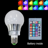 5W RGB Bulb Light Lamp Dimmable Magic MultiColor RGB Holiday Lighting 220v 110V 16 Colors Changing