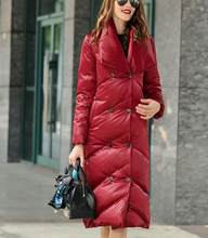 New Fashion Large Collar ThickWinter Women Down Coat Thick Warm Winter Duck Down Coat Long 90% Down Jacket Plus Size Women Coat(China)
