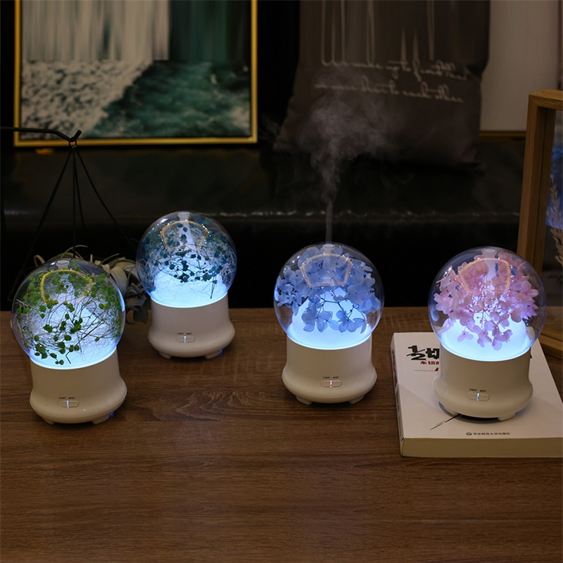 New Eternal Flower Babysbreath Aromatherapy Air Humidifier Colorful Light Aroma Diffuser 100ML Ultrasonic Essential Oil Diffuser hot sale humidifier aromatherapy essential oil 100 240v 100ml water capacity 20 30 square meters ultrasonic 12w 13 13 9 5cm