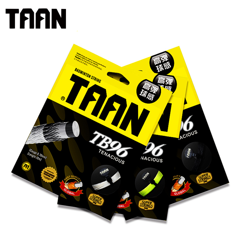TAAN 3pcs/lot 0.70mm Round Badminton Racquet String Feeling Training String 10m High Flexibility Gym Badminton String TB96 ...