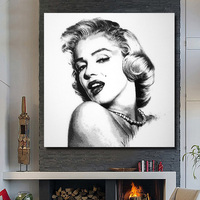 Unique Marilyn Monroe handpainted Oil Painting Pop Wall art Decor on Canvas Star figure poster for living room home decor