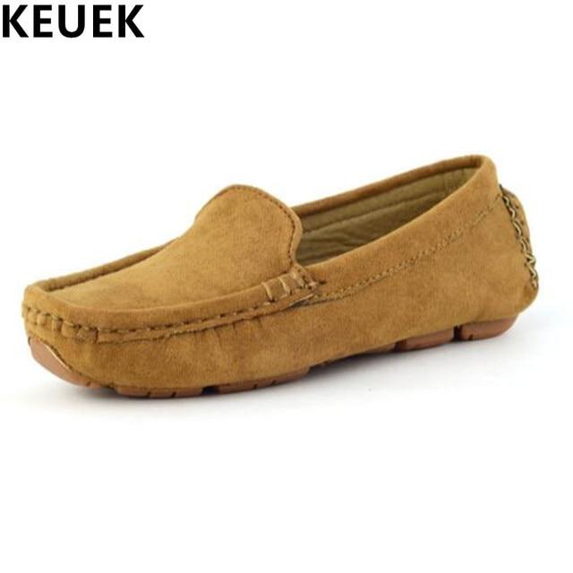 a2a90953e Nuevo PRIMAVERA otoño niños mocasines de cuero zapatos de fondo suave  transpirable Zapatos Bebé Niño