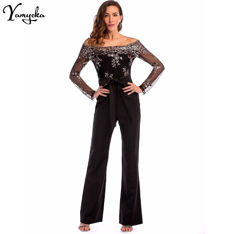 Sexy Sequins Patchwork Rompers Womens Jumpsuit Baby Women Summer Elegant Long Sleeves Backless Party Playsuits Overalls New