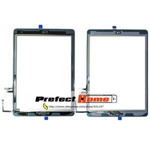 Image 4 - Iyi test edilmiş iPad Air1 dokunmatik ekran cam sayısallaştırıcı ve yapıştırıcı + ev flex kablo tamamlandı A1474 A1475 A1476