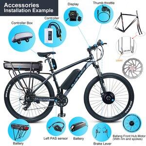 Image 3 - Bafangフロントハブモーター 48v 500 ワットの電子自転車変換キットのための 20 26 27.5 28 700Cホイールディスクのvブレーキ電動自転車diy G020.500