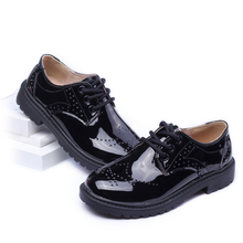 2016 spring male  children shoes child single shoes female child performance shoes black leather male