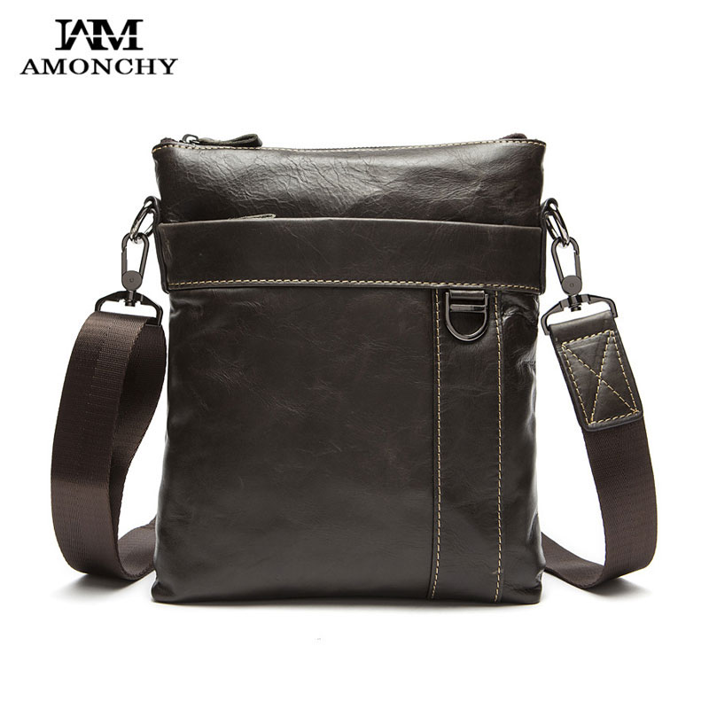 2016 Hot Sale Men Messenger Bags Brand Genuine Leather Handbag Shoulder Bag Casual Fashion Men Crossbody Bags Black Flap Bag 10 hot sale european and american fashion men genuine leather famous kpaullon brand shoulder handbag designer mens messenger bag
