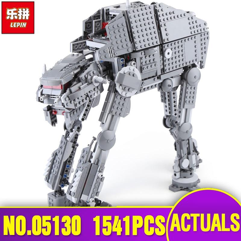 Lepin 05130 Genuine Star Plan Series The First order heavy assault walker Set Legoing 75189 Building Blocks Bricks Toys as Gifts конструктор lepin star plan истребитель набу 187 дет 05060