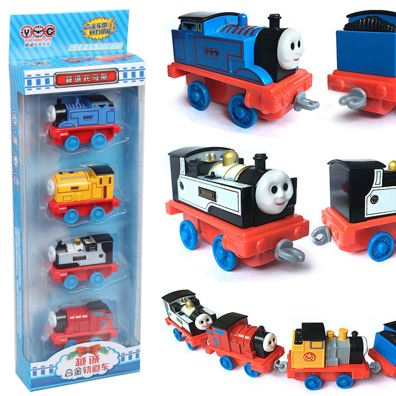 Thomas&Friends Diecast Toy Vehicles Alloy Pullback Small Train Set Model Toy Cartoon Anime Thomas Children Gift Set Boys Toys