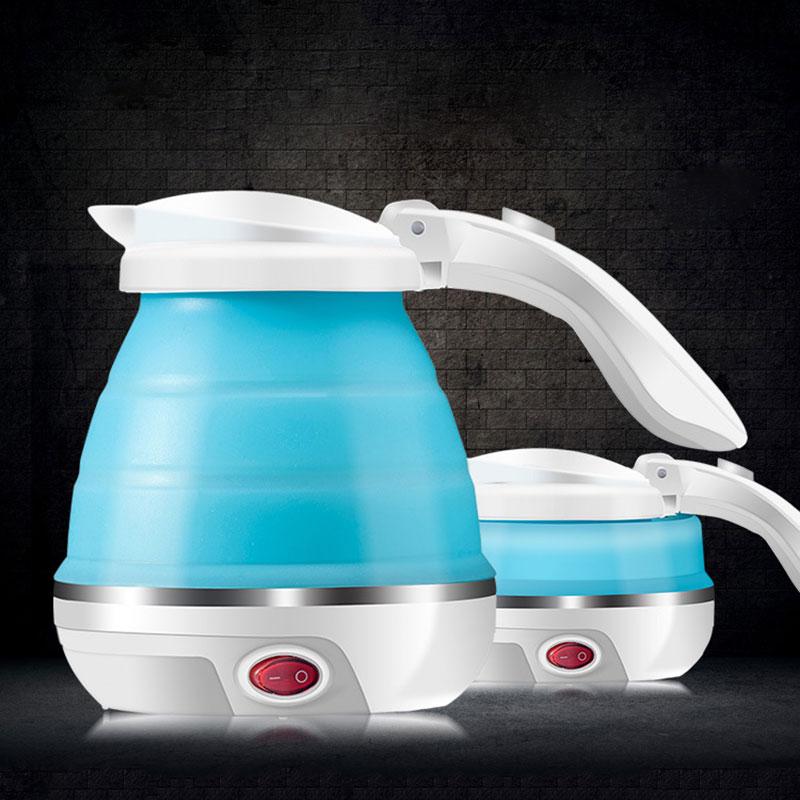 LUCOG Путешествия складной электрический чайник Еда Класс закипании защиту силиконовые разрушается Кемпинг чайник двойной Напряжение 110-220 В