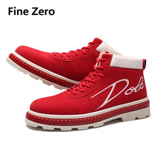 Soft Flock velvet Men Brand Ankle Boots Breathable Men Leath
