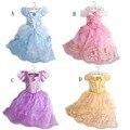 HOT Niños Niñas Vestido de la Princesa Niños Vestidos de Gasa para La Muchacha Rapunzel Cinderella Belle Aurora Vestidos Ropa Cosplay Disfraces