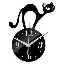 Sticker Watch Clock Wall Reloj-De-Pared Modern-Design Crystal Acrylic Home-Decoration