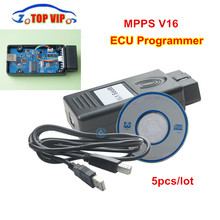 MPPS V16 ECU Chip Tuning Tool for EDC15 EDC16 EDC17 MPPS V 16.1.02 ECU Flasher OBD2 ECU Diagnostic-tool with Multi-language
