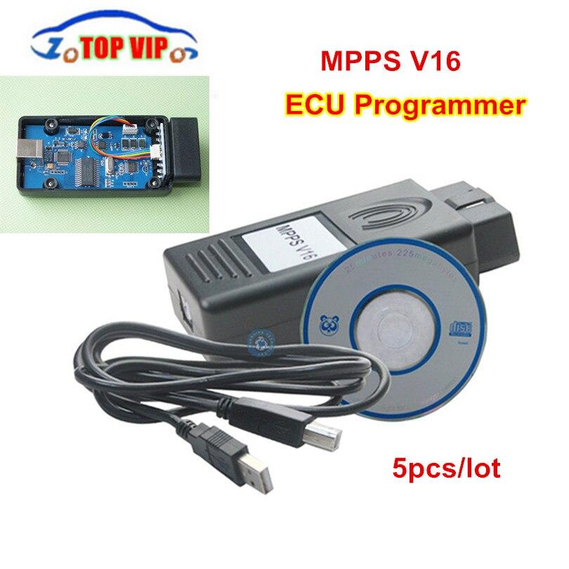 Mpps V16 ECU чип-тюнинг инструмент для EDC15 EDC16 EDC17 MPPS V 16.1.02 ECU Flasher OBD2 ЭБУ диагностический инструмент с многоязычным