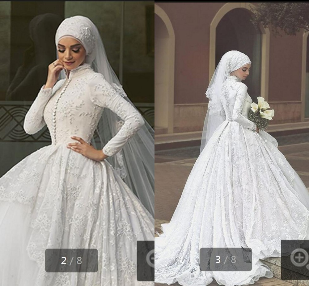 Aliexpress buy long sleeve muslim wedding dress new arrival aliexpress buy long sleeve muslim wedding dress new arrival train arab dress plus size high quality vintage wedding dresses custom bridal gown from ombrellifo Image collections