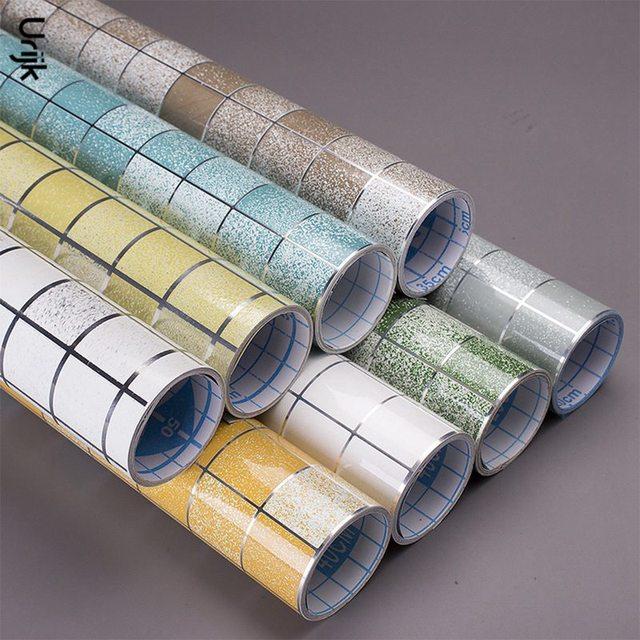 Urijk mozaiki dekoracyjne naklejki ścienne do kuchni odporność na ciepło wodoodporna anty olej tapety DIY akcesoria łazienkowe wystrój