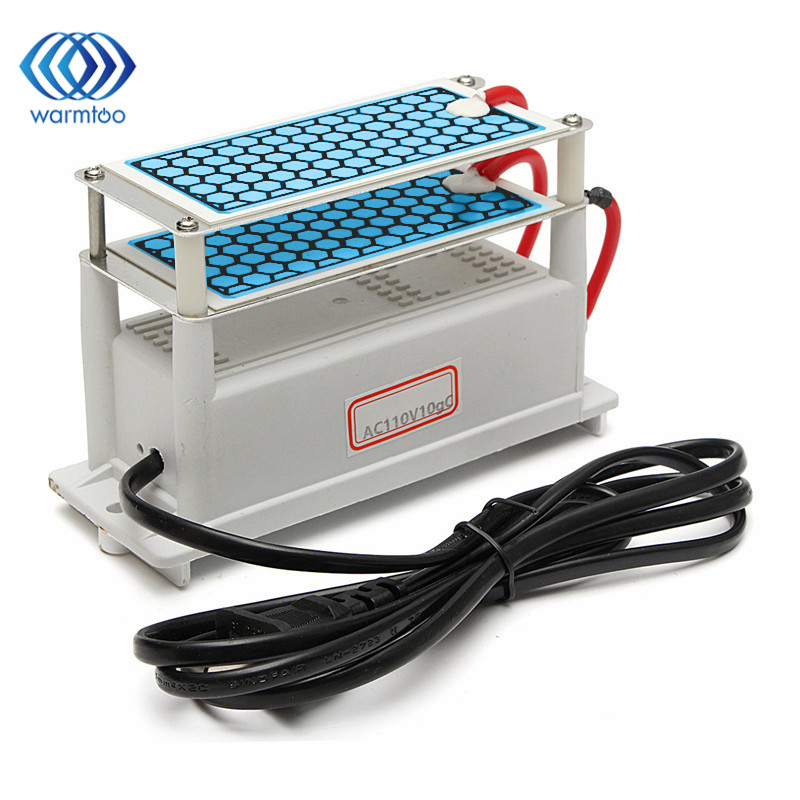 Ozone Generator 110V 10g/H Shock Treatment Air Ozonizer Double Ceramic Plate Low Power Consumption Durable ceramic plate with ceramic base 5g h ozone generator for ozone generator accessory white 120mm x 50mm