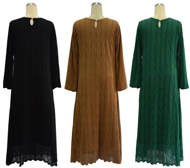 87834cd49d0 2016 muslim women dress djellaba casual abaya plus size caftan lace long  dress turkish dubai robe arab traditional clothing-in Islamic Clothing from  Novelty ...