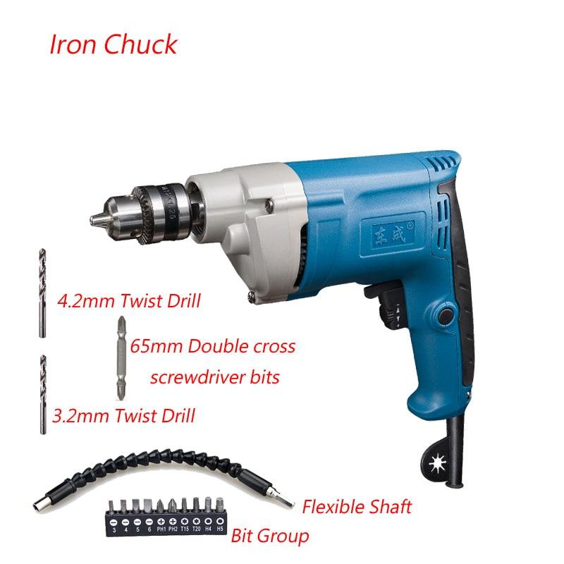 Ipari 500W kézi elektromos fúró 0-1750 ford / perc elektromos - Elektromos kéziszerszámok - Fénykép 4