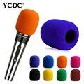 Orange Yellow Handheld Stage Microphone Karaoke DJ Windscreen Sponge Mic Cover