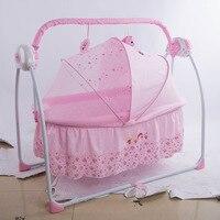 Baby Rocker кровать многофункциональный кроватку интеллектуальные электрические Портативный Складной Музыка Колыбель складной новорожденных