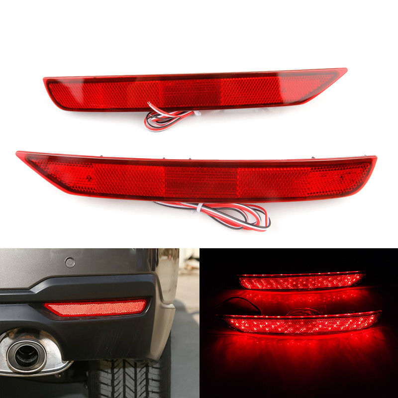 2pcs Red LED Rear Bumper Brake Stop Tail Fog Light For Subaru Forester 2008 2016 2009 2010 2011 2012 2013 2014 2015 2017 2018