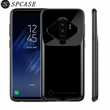 SPCASE 4200/5200 mAh  Portable External Battery Cases For Samsung Galaxy S9 S9 Plus Ultra Thin Backup Power Bank Charger Cover